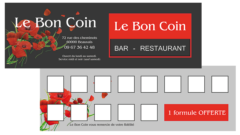 carte de fid lite sdnet solutions le bon coin restaurant. Black Bedroom Furniture Sets. Home Design Ideas